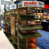 Custome Madix Shelving System with Banner